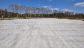 Etap 1 budowy placu składowego zakończony.